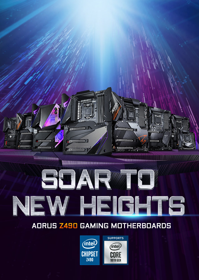 Soar To New Heights - AORUS Z490 Gaming Motherboards